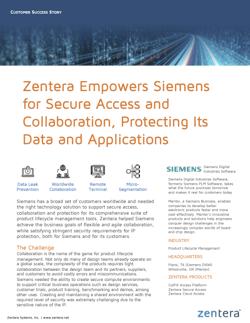Zentera Siemens Customer Success Story 2020