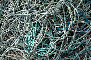 twisted-nylon-rope-tangled-mass-background